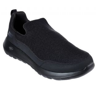 Mens Skechers 54626 BBK GOwalk Max Privy Black Slip-On Trainers
